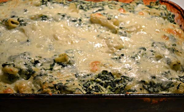 Baked Spinach and Ricotta Rigatoni