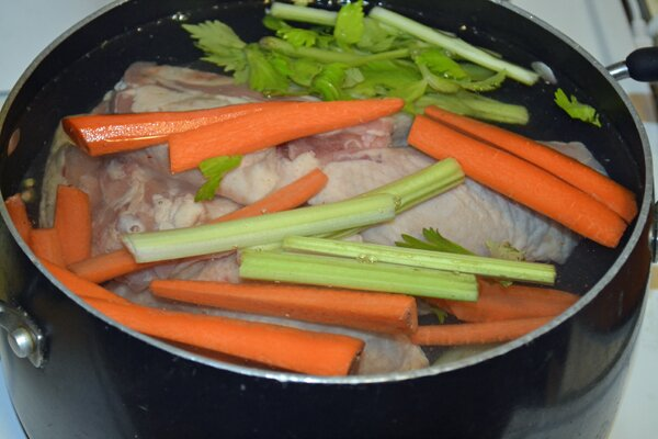 Chicken and Vegetables For Stock