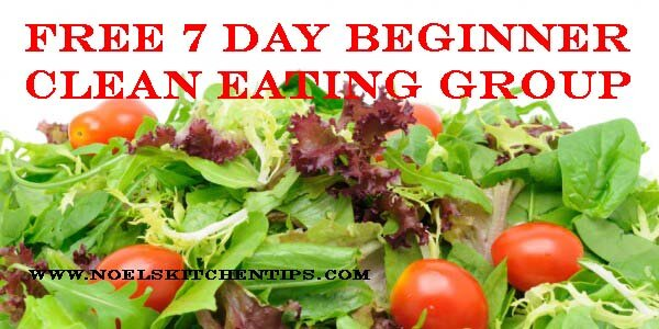 Free 7 day beginner clean eating group to begin March 30th on Facebook. Send me a message to join us!